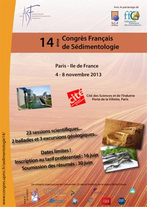 14 Congrs Franais de Sdimentologie
