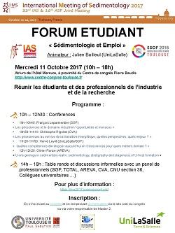 Forum étudiant - Sédimentologie et Emploi - IAS & ASF