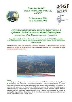 Excursion du GFC avec la section Stratigraphie de la SGF, et l'ASF