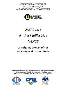 Journée Nationales de Géotechnique et de Géologie de l\'Ingénieur