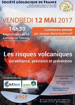 Conférence : Les risques volcaniques - surveillance, prévision et prévention - Bordeaux