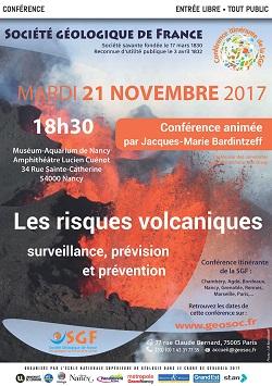 Conférence : Les risques volcaniques - surveillance, prévision et prévention - Nancy