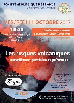 Conférence : Les risques volcaniques - surveillance, prévision et prévention - Paris