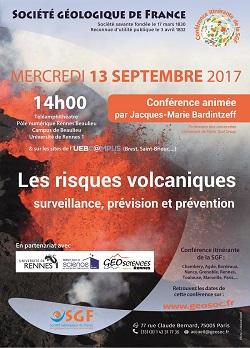 Conférence : Les risques volcaniques - surveillance, prévision et prévention - Rennes