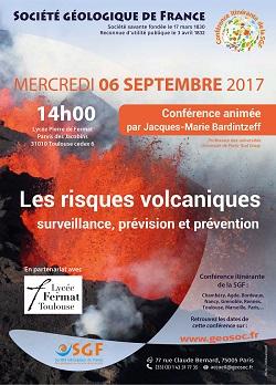 Conférence : Les risques volcaniques - surveillance, prévision et prévention - Toulouse