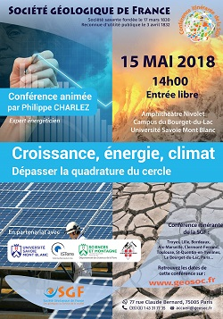Croissance, énergie, climat - Dépasser la quadrature du cercle - Bourget-du-Lac