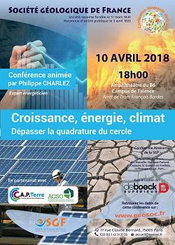 Croissance, énergie, climat - Dépasser la quadrature du cercle - Bordeaux