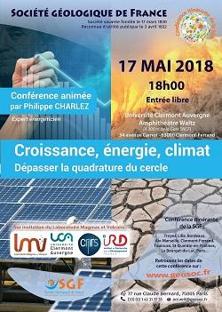 Croissance, énergie, climat - Dépasser la quadrature du cercle - Clermont-Ferrand