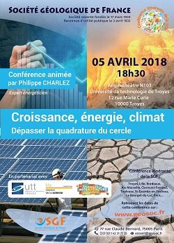 Croissance, énergie, climat - Dépasser la quadrature du cercle - Troyes