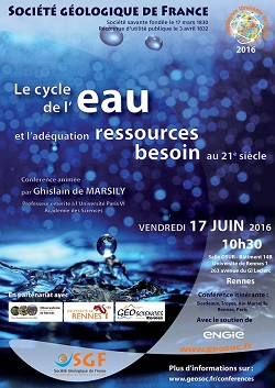 Le cycle de l\'eau et l\'adéquation besoin-ressources au 21ème siècle - Rennes