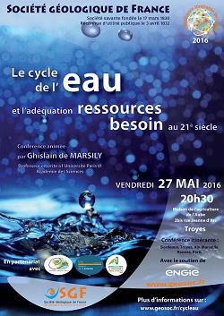 Le cycle de l\'eau et l\'adéquation besoin-ressources au 21ème siècle - Troyes