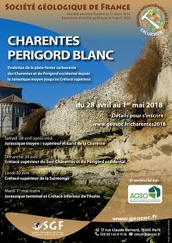 Charentes - Périgord blanc : Evolution de la plate-forme carbonatée des Charentes et du Périgord occidental depuis le Jurassique moyen jusqu\'au Crétacé supérieur