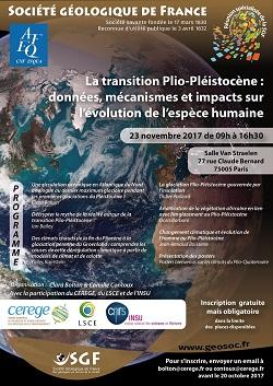 La transition Plio-Pléistocène : données, mécanismes et impacts sur l'évolution de l'espèce humaine