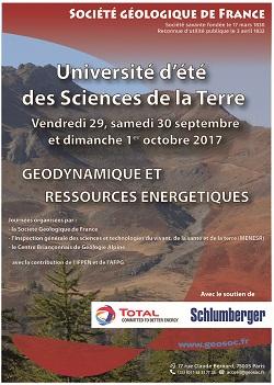 Université d'été des sciences de la Terre - Tectonique et Ressources Minérales