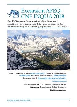 Excursion AFEQ-CNF INQUA - Des dépôts quaternaires du secteur Ubaye-Verdon aux remplissages plio-quaternaires de la région de Digne: entre héritages tectoniques et témoignages glaciaires