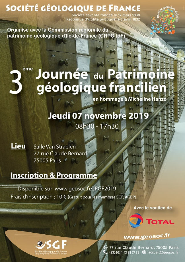 3ème journée du patrimoine géologique francilien