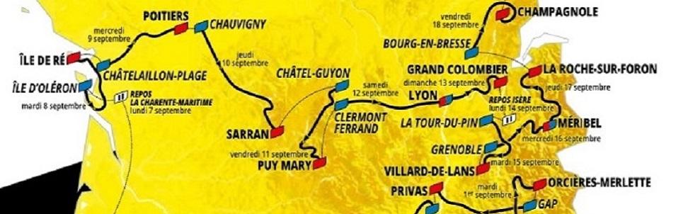 Retrouvez à partir du 29 août tous les commentaires géologiques du Tour de France lors des étapes