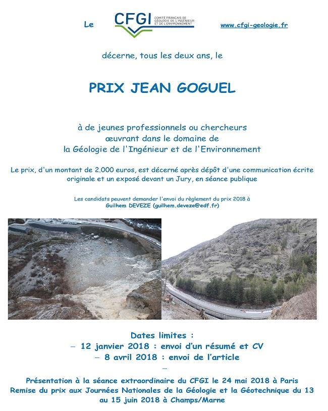 Affiche Prix J. Goguel 2018 1