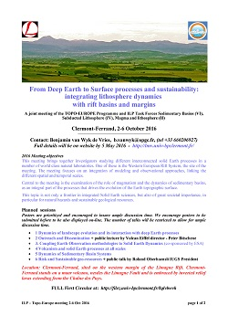 ILP Task Force Sedimentary Basins 2016 workshop - From Deep Earth to Surface processes and sustainability