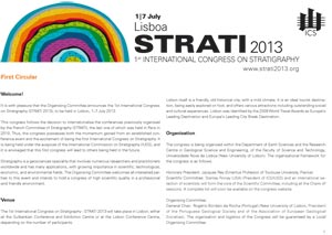 STRATI 2013 1st International Congress on Stratigraphy / Lisbonne