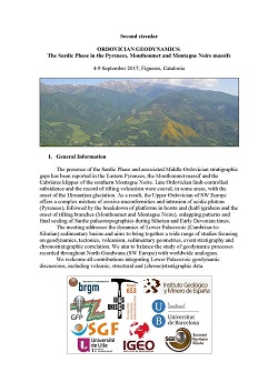 ORDOVICIAN GEODYNAMICS : The Sardic Phase in the Pyrenees, Mouthoumet and Montagne Noire massifs