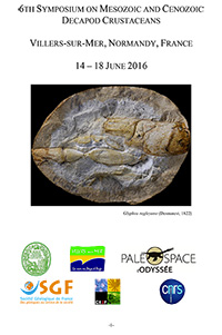 6th Symposium on Mesozoic and Cenozoic Decapod Crustaceans / Villers-Sur-Mer
