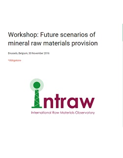 INTRAW workshop on future scenarios on international raw materials provision